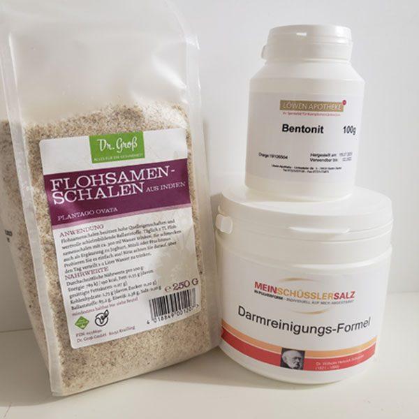 """""""Mein Schüssler-Salz""""- ( Teil 1 ) DarmREINIGUNGS-Formel 400g mit Flohsamenschalen und Bentonit"""