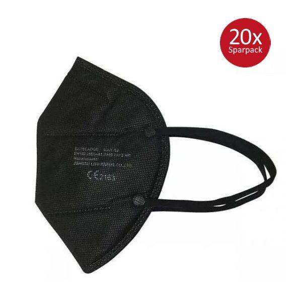 FFP2 Masken schwarz 20 Stück Virenschutz Löwen Apotheke24.de