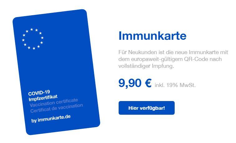 immunkarte eu neue version