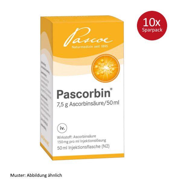 Pascorbin Injektionsflaschen 10 Stück - Löwen Apotheke - Natürliche Heilmittel im Sparpack